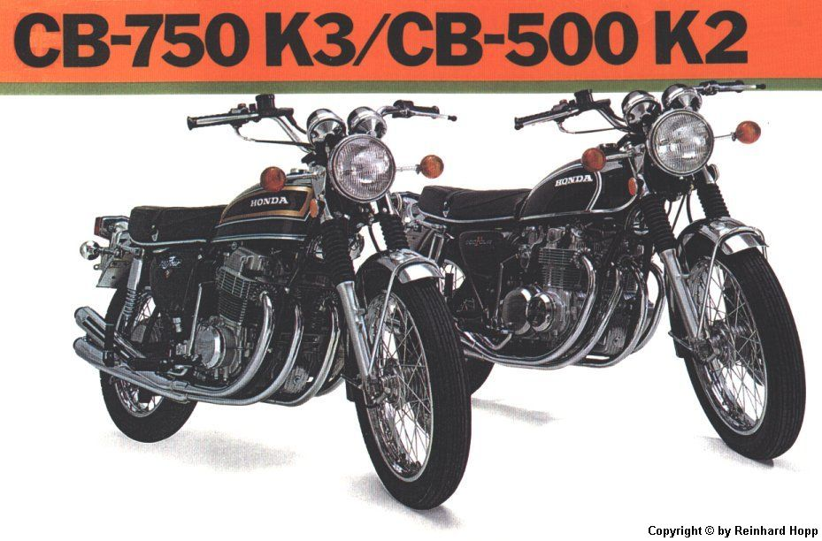 the CB-750 K3 and the CB-500 K2
